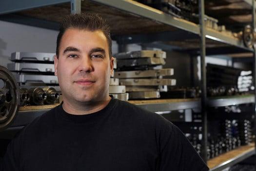 Image of Matt Adams, owner of DFC Diesel Edmonton engine rebuilders.